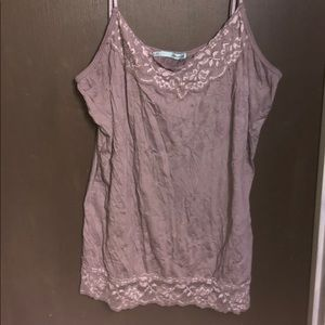 Maurices dusty lavender lace trimmed cami sz XXL
